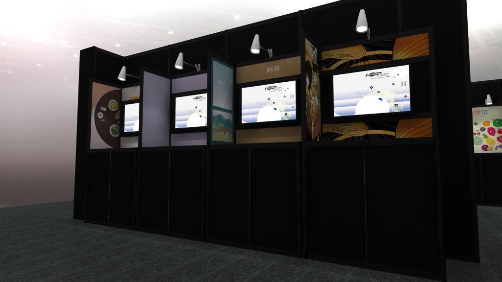 放視大賞 畢業展設計 學生展 攤位設計 效果圖