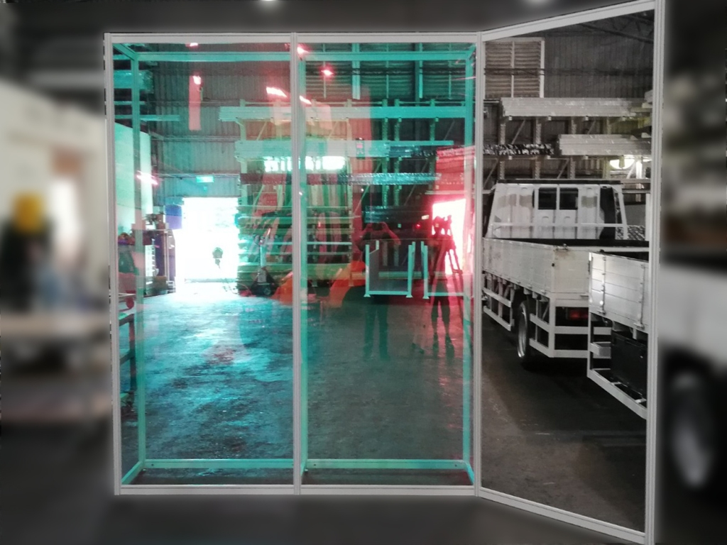 畢業展設計 組合展櫃 彩虹膜(雷射紙) 透明壓克力