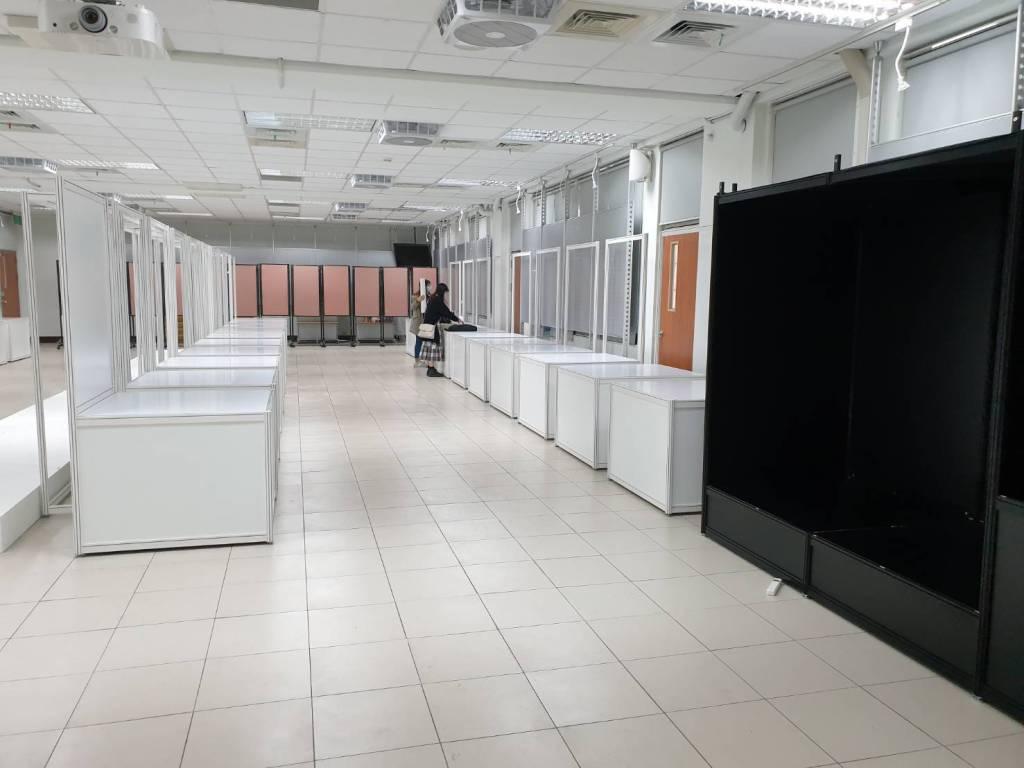 畢業展設計 進場施工 亞東技術學院有庠大樓