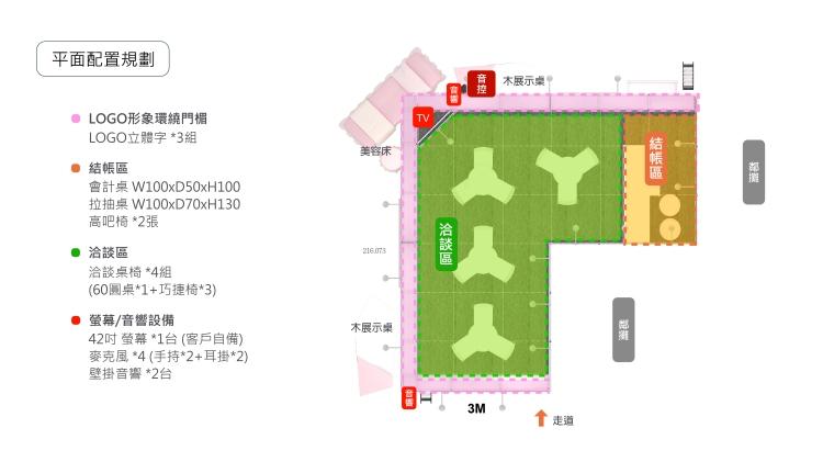 展場攤位設計 展區平配圖 2021春季美展 台北世貿一館
