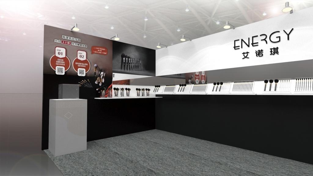 展場攤位設計3D效果示意圖 2021春季美容展_艾諾琪Energy Beauty TW