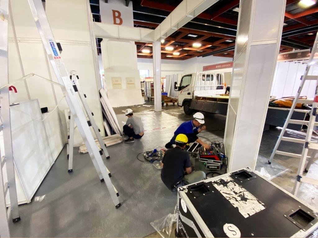 展場攤位設計 進場施工 音響設備測試組裝