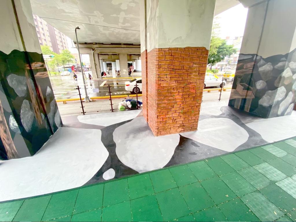 空間彩繪 汐止車站小廣場
