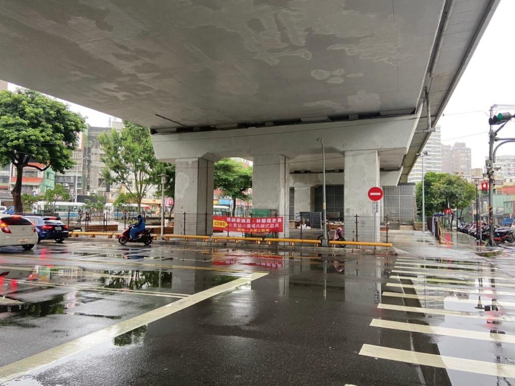 空間彩繪 汐止車站小廣場 繪製前