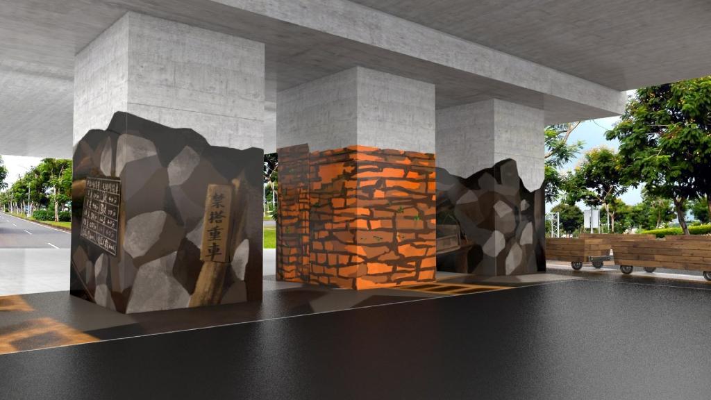 空間彩繪 3D效果模擬圖