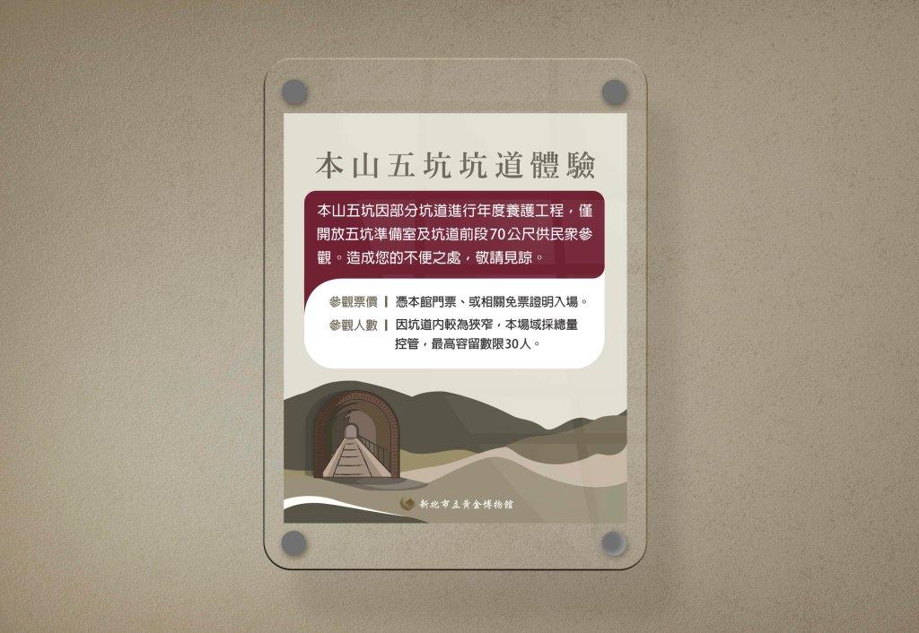 坑道體驗說明海報