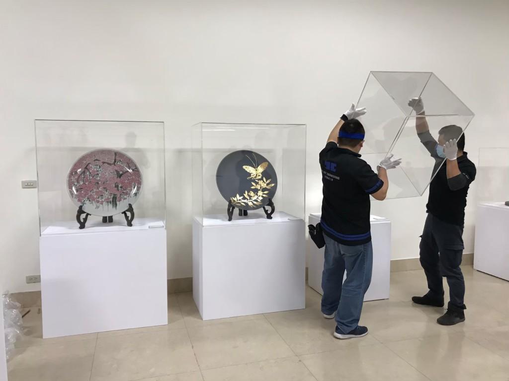 藝術展覽 工藝之華 新北市臺灣工藝之家聯展 進場佈展